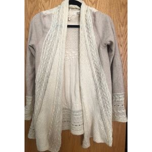 Anthropologie Knitted & Knotted Sweater Cardigan